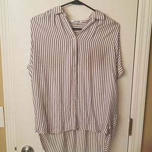 Madewell Central Shirt, white with blue stripes